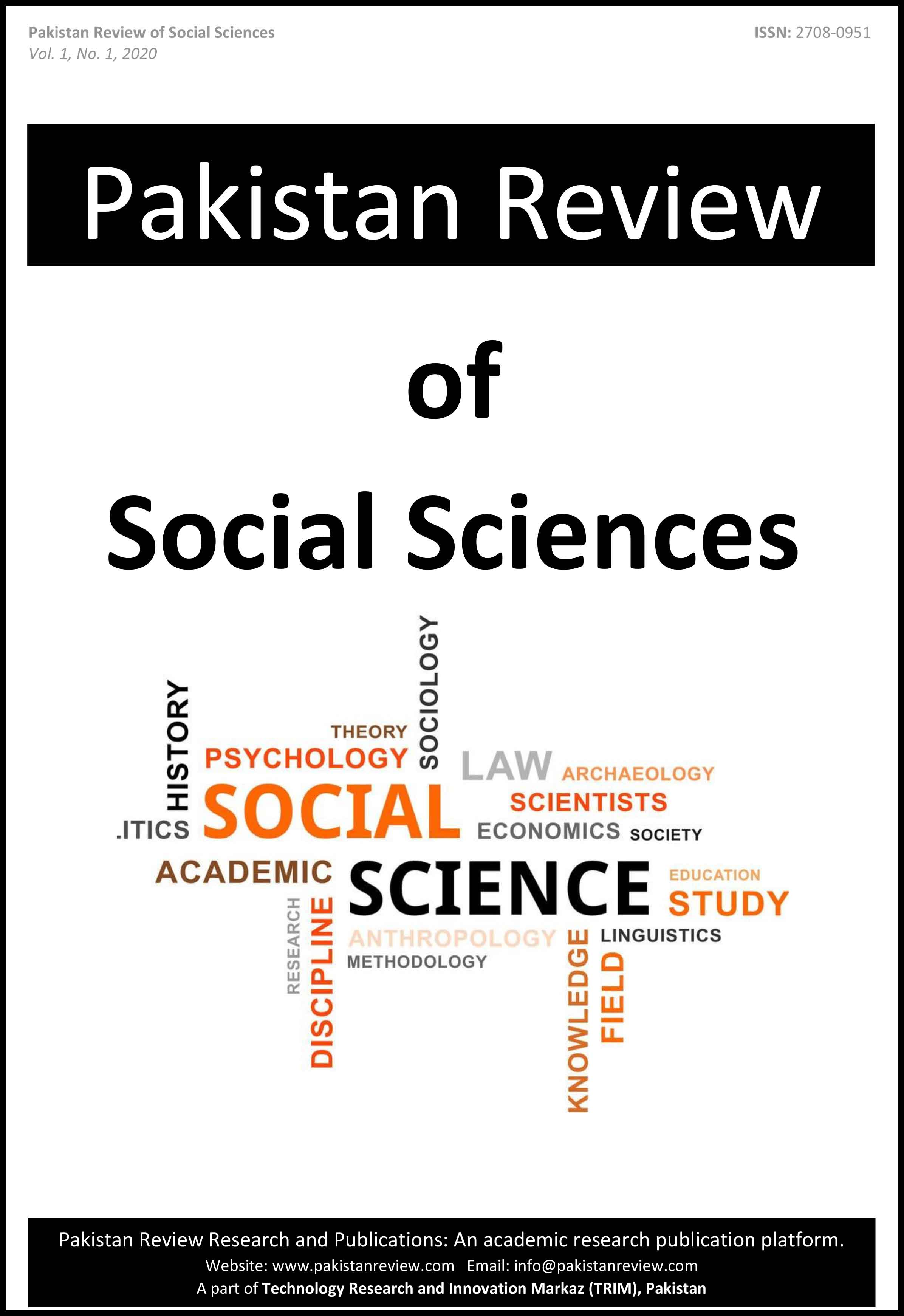 Pakistan Review of Social Sciences (PRSS)